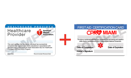 AHA BLS CPR + NON AHA First Aid - CPR Certification Miami